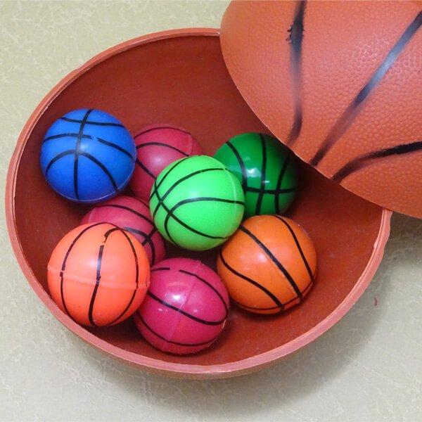 バスケットボール型 カラフルスーパーボール【画像2】
