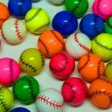 野球ボール型カラフルスーパーボール