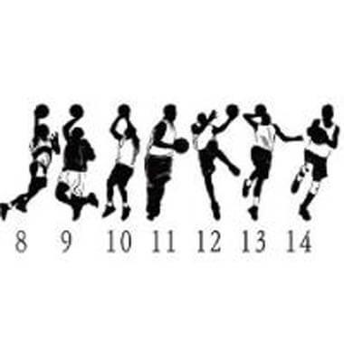 バスケットボール選手柄 ウォールステッカー【画像3】