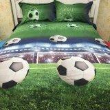 サッカー好きのためのベッドカバー4点セット