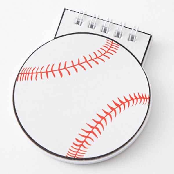 野球ボール型 リング付きのメモ帳