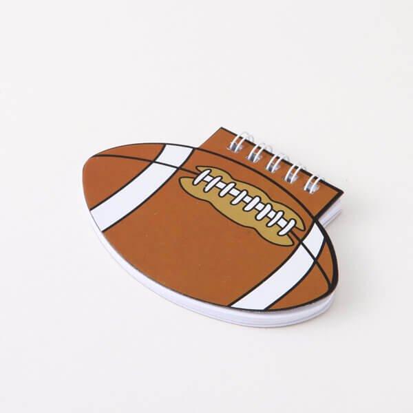 【アイテムキューブ】事務・文具・ビジネス用品 > 文具 | ラグビーボール型 リング付きのメモ帳