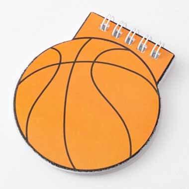【アイテムキューブ】事務・文具・ビジネス用品 > 文具 | バスケットボール型 リング付きのメモ帳