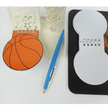 バスケットボール型 リング付きのメモ帳【画像5】