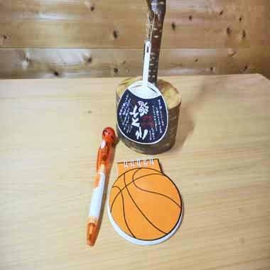バスケットボール型 リング付きのメモ帳【画像7】