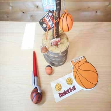 バスケットボール型 リング付きのメモ帳【画像8】