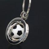 メタリック 回転するサッカーボールキーホルダー 1個