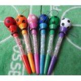 真空ボールペン サッカーボール型(しゃぼん玉付き)