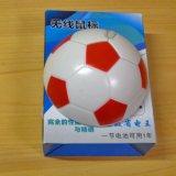 サッカーボール型 ワイヤレスマウス(白赤)