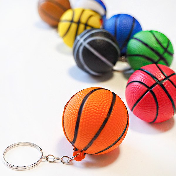 やわらかいバスケットボールキーホルダー(大) 単価72円〜【画像3】