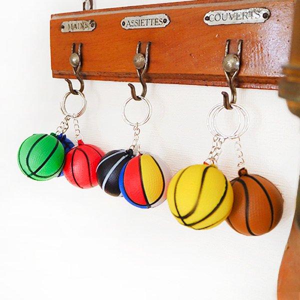 やわらかいバスケットボールキーホルダー(大) 単価72円〜【画像5】