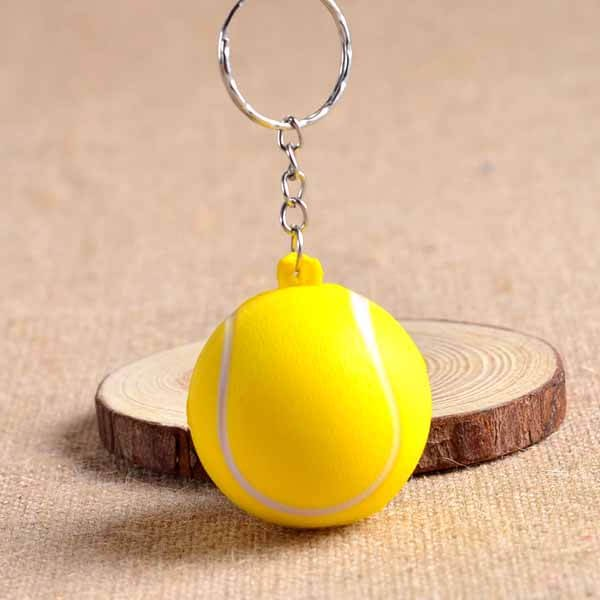 セットがお得 やわらかいテニスボールキーホルダー 大 単価74円
