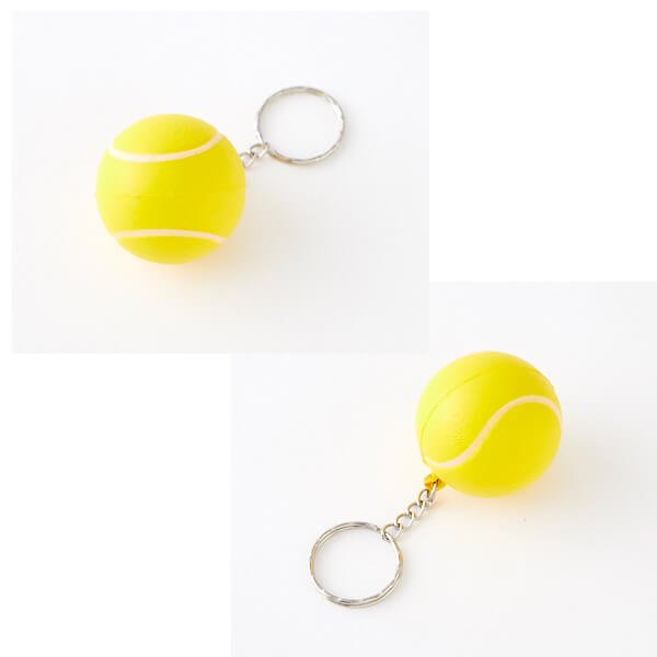 セットがお得! やわらかいテニスボールキーホルダー(大) 単価74円〜【画像3】