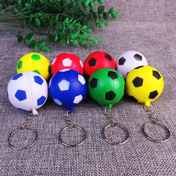セットがお得! やわらかサッカーボールキーホルダー(大) 1個 単価68円〜【画像4】