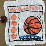 バスケ柄のミニタオルに変身 びっくりバスケットボール 単価286円〜