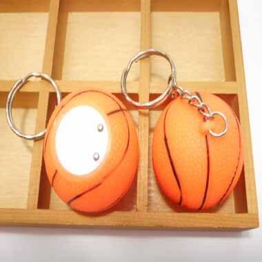 イルミネーションのように点灯するバスケットボールキーホルダー 1個【画像3】