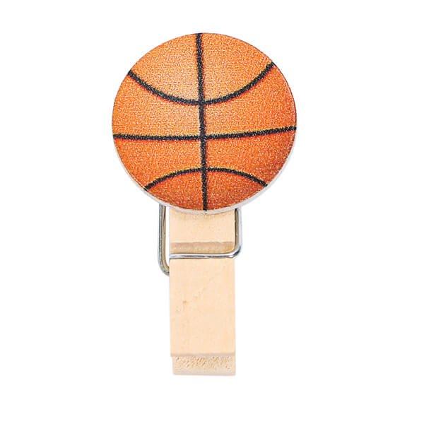 バスケットボール付きのオリジナル木製クリップ1個【画像5】