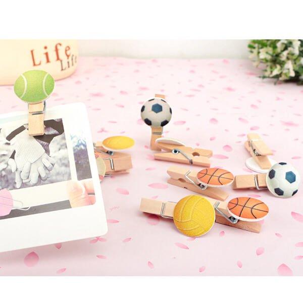 バスケットボール付きのオリジナル木製クリップ1個【画像8】