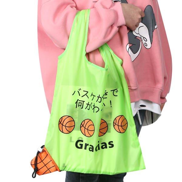 バスケットボール柄のオリジナルエコバッグ バスケが好きで何が悪い【画像2】