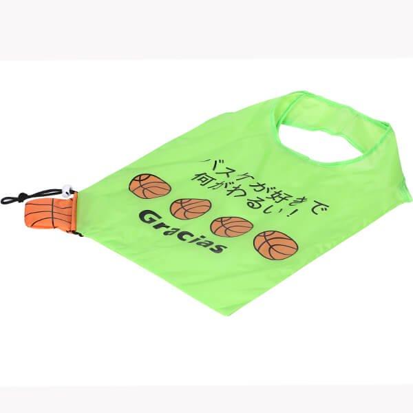 バスケットボール柄のオリジナルエコバッグ バスケが好きで何が悪い【画像5】