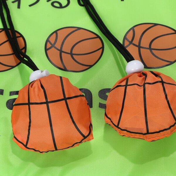 バスケットボール柄のオリジナルエコバッグ バスケが好きで何が悪い【画像7】