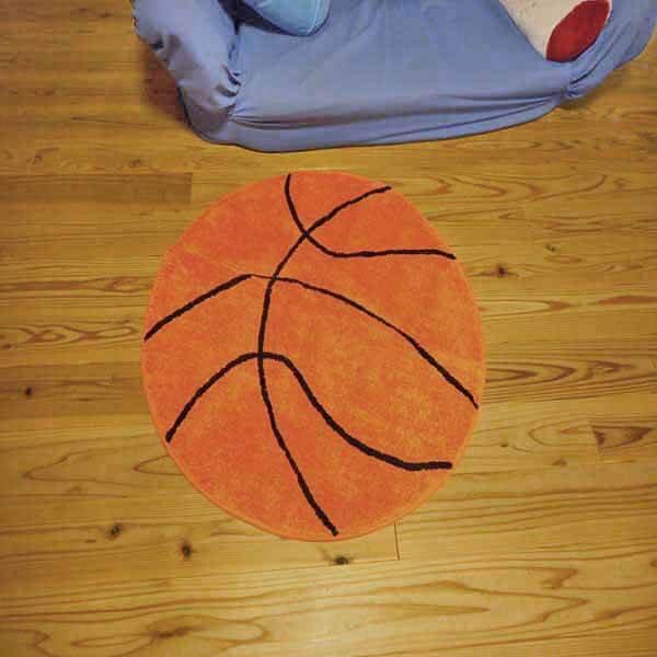存在感抜群 大きいバスケットボール型マット【画像2】