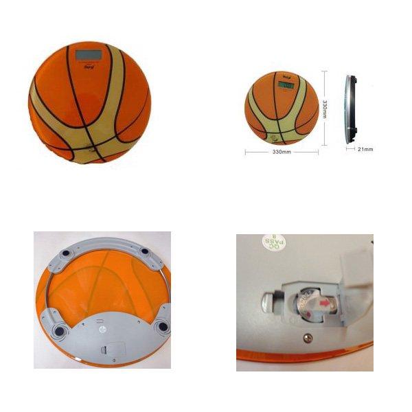 可愛いバスケットボール型の体重計