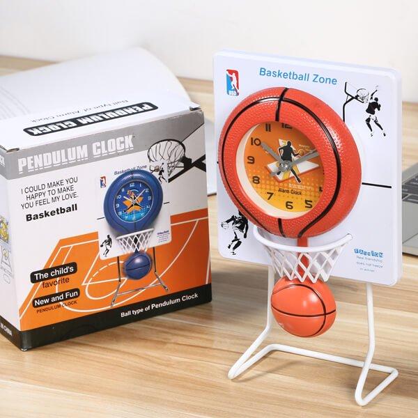 バスケのゴール付き フライングクロック(時計)