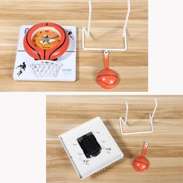 バスケのゴール付き フライングクロック(時計)【画像2】