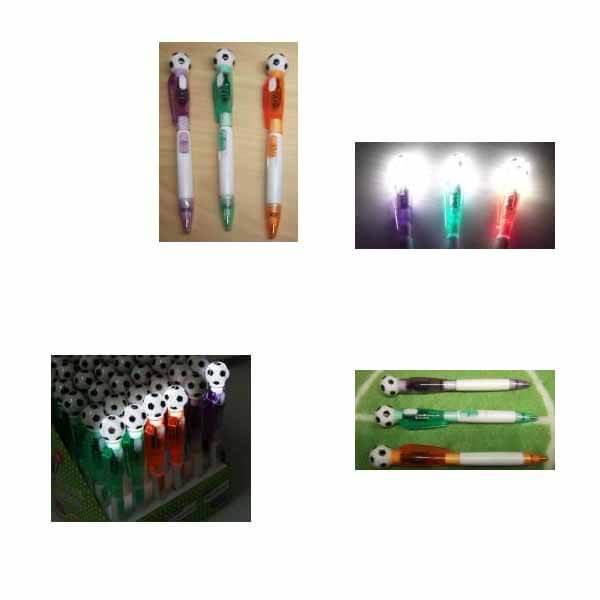 サッカーボール付き ライトボールペン (ランダム1本) 【画像2】