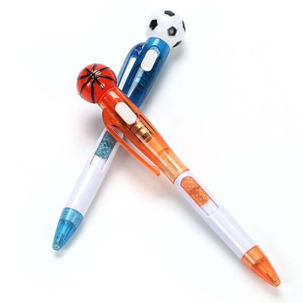 サッカーボール付き ライトボールペン (ランダム1本) 【画像5】
