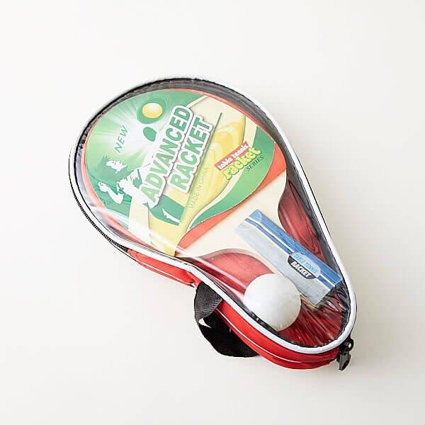 存在感ある卓球セット (ラケット2 ボール2 ケース付き)