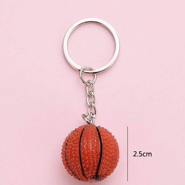 キュートなバスケットボールキーホルダー【画像5】