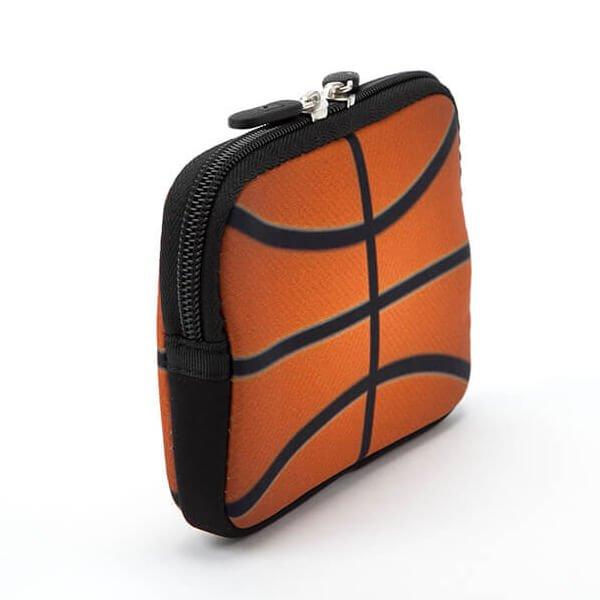 バスケットボールグッズ 可愛いオリジナルミニポーチ バスケットボール柄