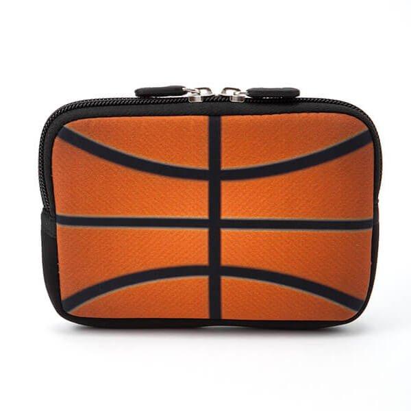 バスケットボールグッズ 可愛いオリジナルミニポーチ バスケットボール柄【画像2】