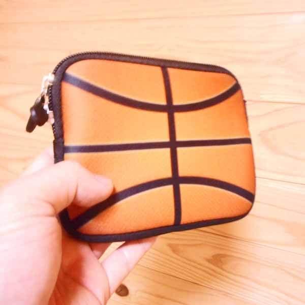 バスケットボールグッズ 可愛いオリジナルミニポーチ バスケットボール柄【画像4】