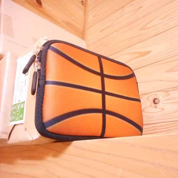 バスケットボールグッズ 可愛いオリジナルミニポーチ バスケットボール柄【画像5】