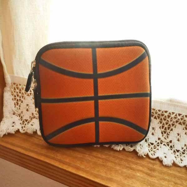 バスケットボールグッズ 可愛いオリジナルミニポーチ バスケットボール柄【画像6】