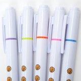 バスケットボール柄入りのかわいいオリジナル蛍光ペン(逆側にボールペン) 1本