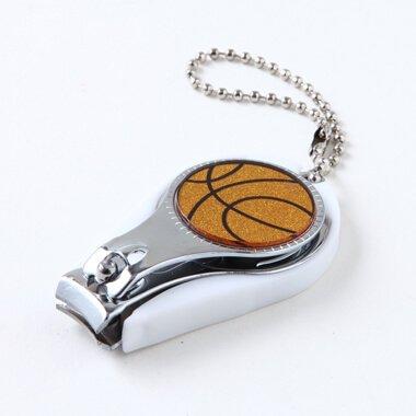 キラキラバスケットボール チェーン付きオリジナル爪切り 栓抜き付き