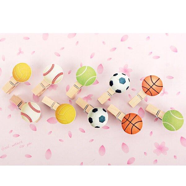 サッカーボール付きの木製ミニクリップ【画像11】