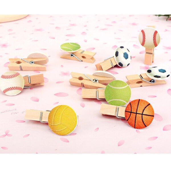 サッカーボール付きの木製ミニクリップ【画像4】