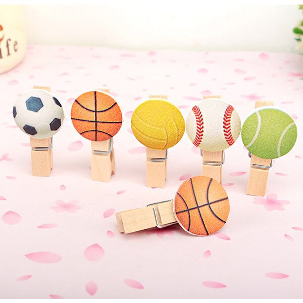 サッカーボール付きの木製ミニクリップ【画像7】
