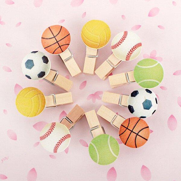 サッカーボール付きの木製ミニクリップ【画像8】