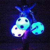 イルミネーションキーホルダー 光るサッカーボール 1個