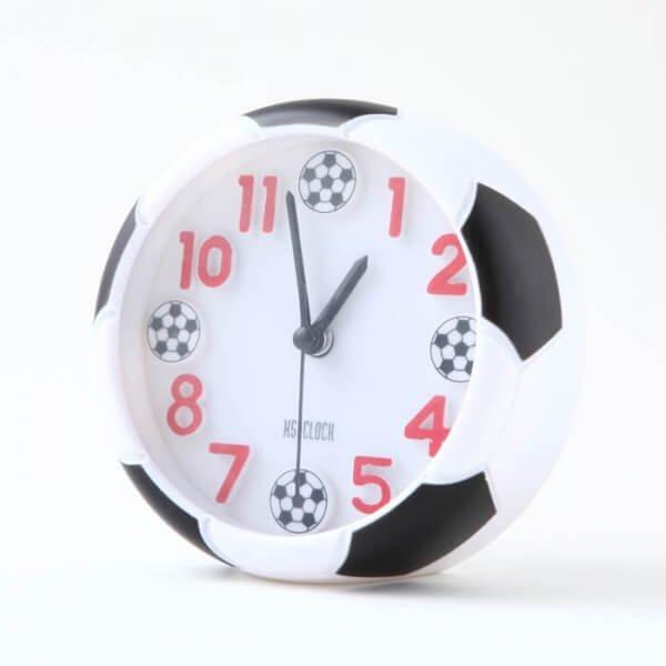 サッカーボール柄 コンパクト目覚まし時計【画像3】