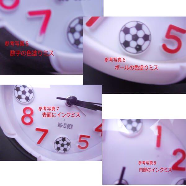 サッカーボール柄 コンパクト目覚まし時計【画像6】