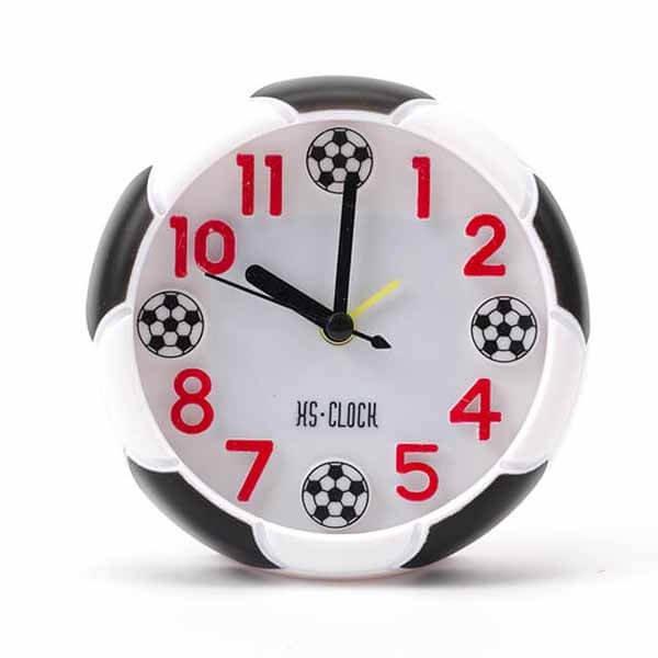 サッカーボール柄 コンパクト目覚まし時計【画像7】