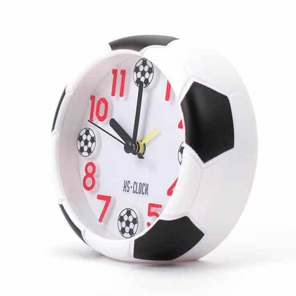 サッカーボール柄 コンパクト目覚まし時計【画像8】