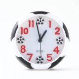 サッカーボール柄コンパクト目覚まし時計